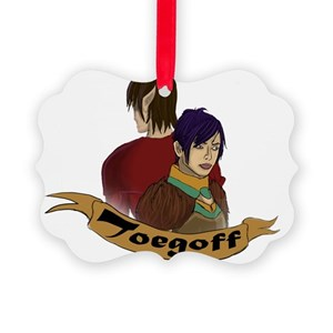 Toegoff and his Love Picture Ornament