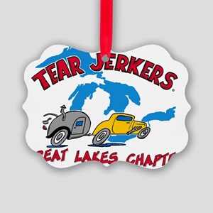 Great Lake TJ LARGE Logo - FINAL Picture Ornament