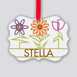 STELLA-cute-flowers Picture Ornament