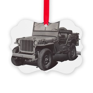 Jeep Christmas Ornament.Wwii Command Reconnaissance Jeep Picture Ornament