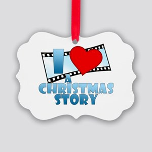I Heart A Christmas Story Picture Ornament