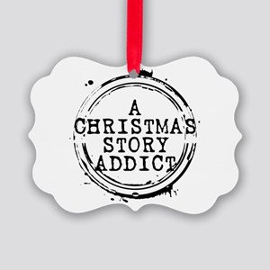 A Christmas Story Addict Stamp Picture Ornament