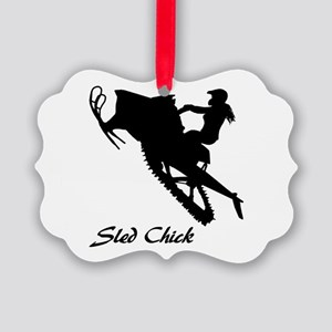 Sled Chick Ornament