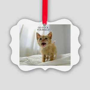 Early Morning Kitty Picture Ornament