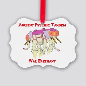 Ancient Psychic Tandem War Elepha Picture Ornament