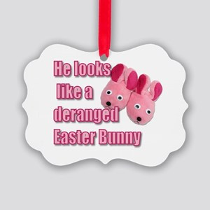Deranged Easter Bunny Picture Ornament