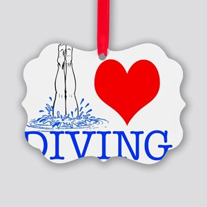 DIVING Picture Ornament