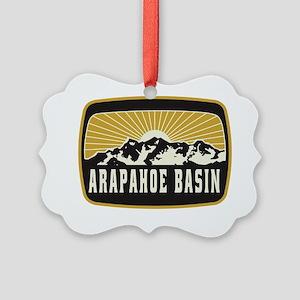 Arapahoe Basin Sunshine Patch Picture Ornament