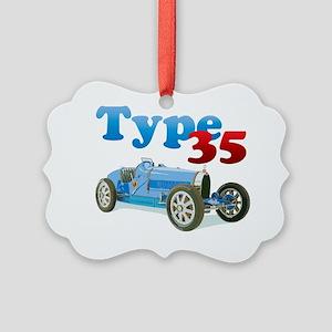 Bugatti35-10 Picture Ornament