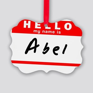 Abel Picture Ornament