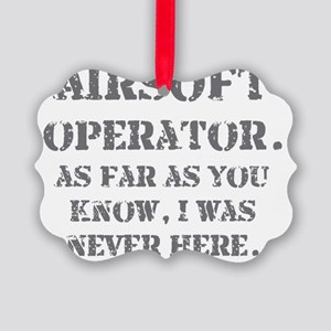 never here Picture Ornament