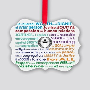 Uu 7 Principles Picture Ornament
