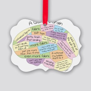 Quilters Brain Picture Ornament