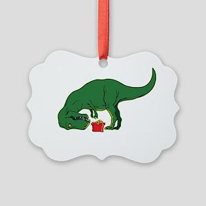 T-rex hates presents Picture Ornament