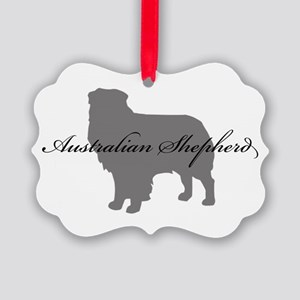12-greysilhouette Picture Ornament