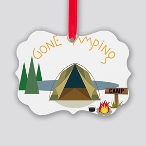 Gone Camping Picture Ornament
