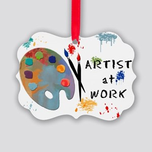 Artist At Work Picture Ornament