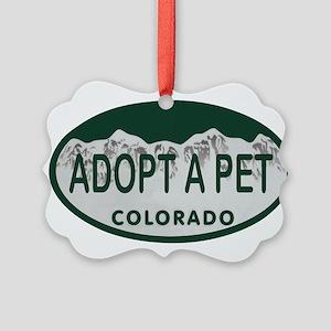 Adopt a Pet Colo License Plate Picture Ornament