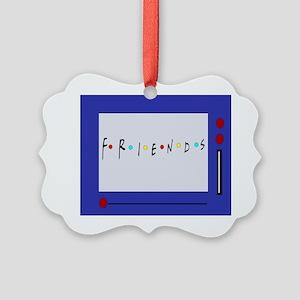 Friends TV Show Magna Doodle Picture Ornament