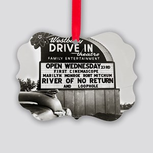 Drive-In Theater Marquee, 1954 Picture Ornament