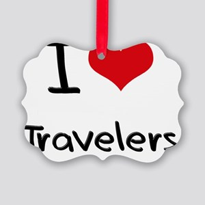 I love Travelers Picture Ornament