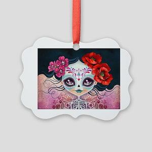 Amelia Calavera Sugar Skull Picture Ornament