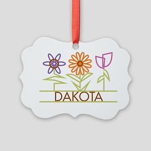 DAKOTA-cute-flowers Picture Ornament