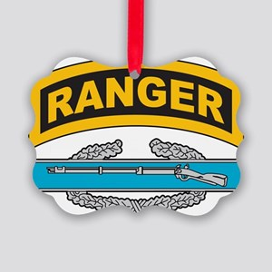 CIB with Ranger Tab Picture Ornament