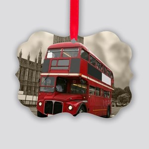 DOUBLE DECKER Picture Ornament