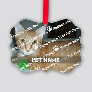 CUSTOMIZE Add Pet Photo And Name Picture Ornament