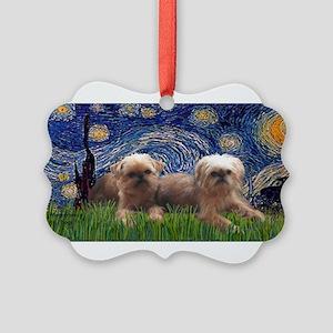 Starry Night - Two Brussells Griffon - REV 2 copy