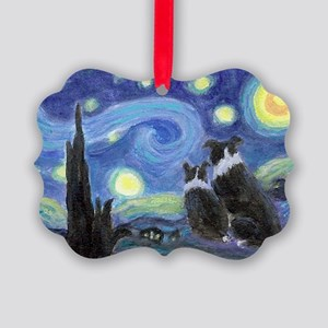 Starry Night hr Picture Ornament