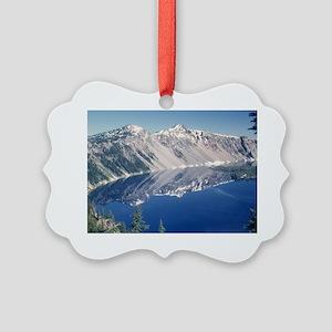 Crater Lake June 1967  Picture Ornament