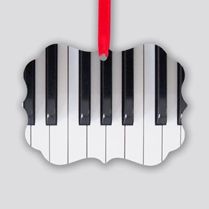 Piano Keyboard 5 Picture Ornament