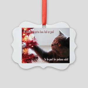 British Shorthair Cat Picture Ornament