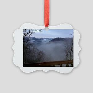 mountains, smokies, foggy mountai Picture Ornament