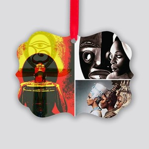 African Goddess Picture Ornament
