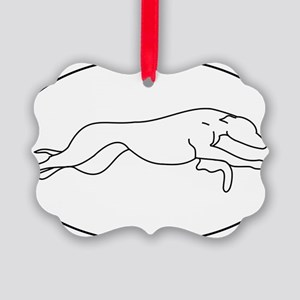 white sticker Picture Ornament