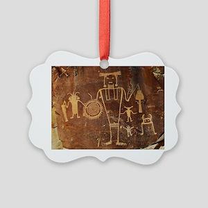 Fremont Rock Art 2x8pt31 Picture Ornament
