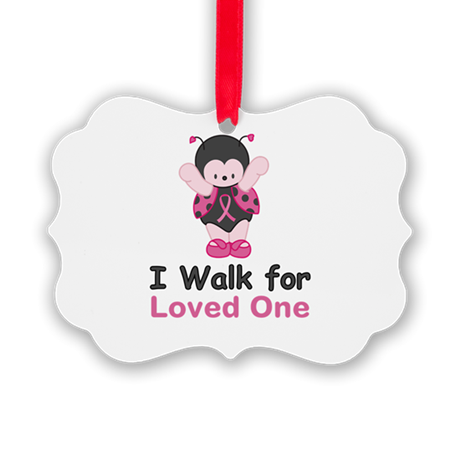 Walk For Ladybug Picture Ornament