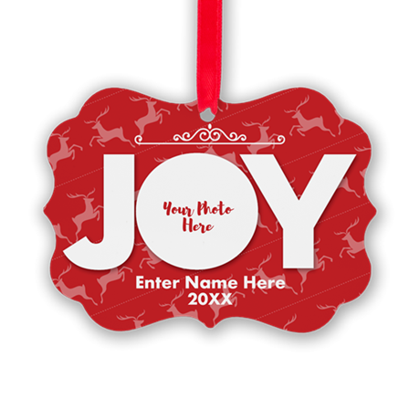 Family Photo Joy Personalized Picture Ornament