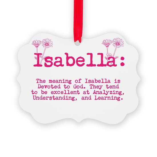 The Meaning of Isabella Ornament by PrettyLittleWeddings ...