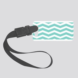Oasis green chevrons Luggage Tag