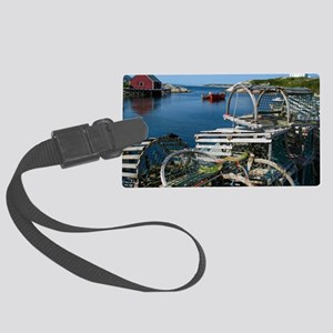 Bar Harbor Maine- sq.  Large Luggage Tag
