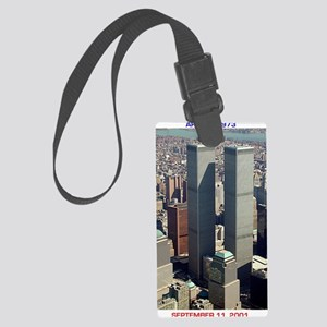 WTC-Complex-lge poster-8b5-cpJou Large Luggage Tag