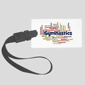 Gymnastics Word Cloud Luggage Tag