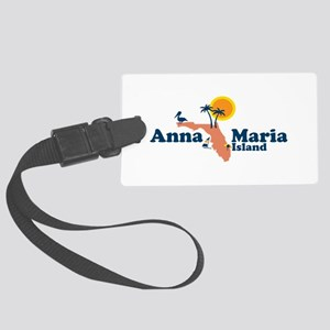 Anna Maria Island - Map Design. Large Luggage Tag
