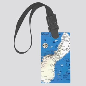 GUAM MAP Large Luggage Tag