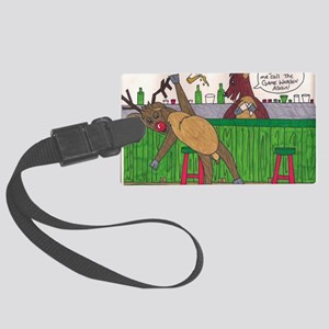 billy deer Large Luggage Tag