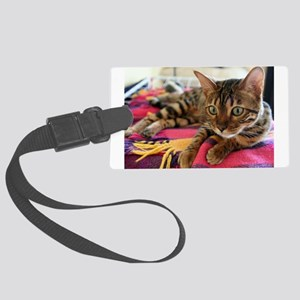 bengal laying Luggage Tag